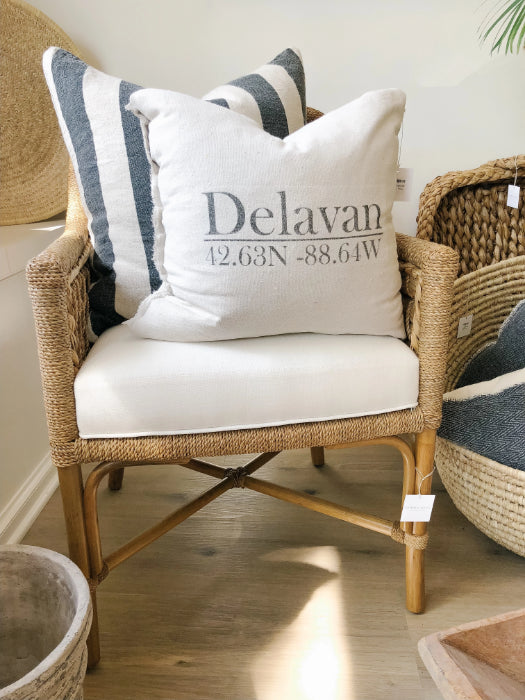 Delavan Wisconsin Pillow