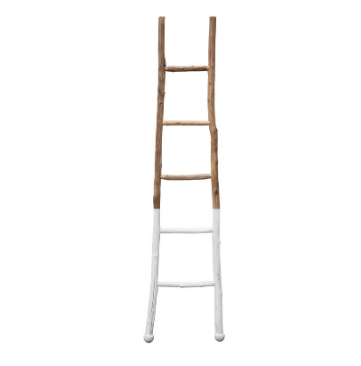 Wood Ladder, White Dipped