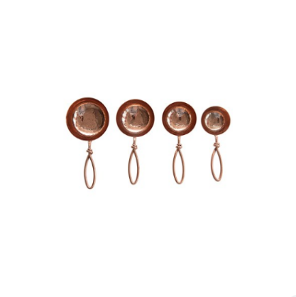 Copper Measuring Cups Stainless Steel Scoops