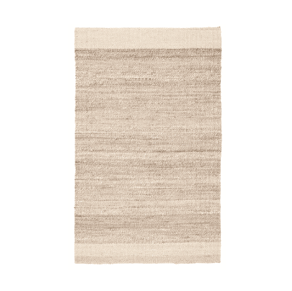 Jute Rug Natural and White Mallow