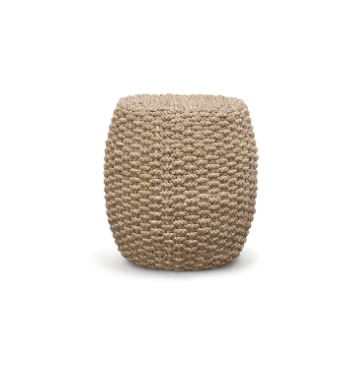 Spa Round Drum Stool Woven Rope