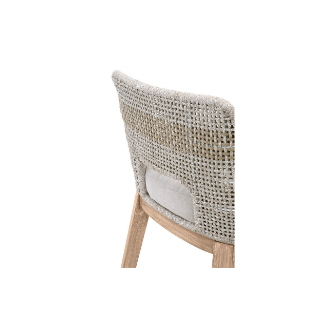 Woven Rope Stripe Counter Stool