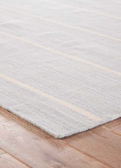 Light Blue and Gray Rug, 2x3