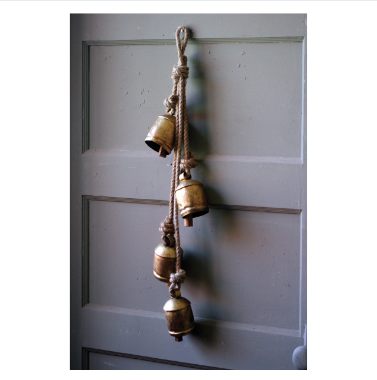 Rustic Iron Hanging Bells