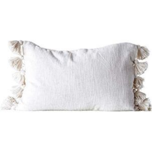 Woven Pillow with Tassels