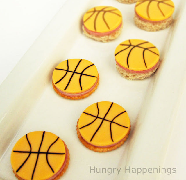 Basketball Cheese and Crackers Party Food 1