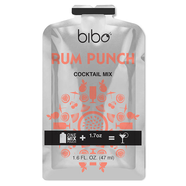 Bibo Rum Punch 18-Count Cocktail Mix Pouches