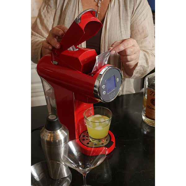 Bibo Barmaid System – Great Cocktails in 20 Seconds (Red) <h5>Comes with 3 sample Bibo Cocktail mixers</h5>