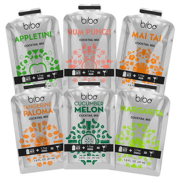 Bibo Variety Pack 24-Count Cocktail Mix Pouches