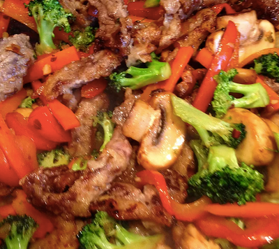 Guiltless Ginger Beef Stir Fry