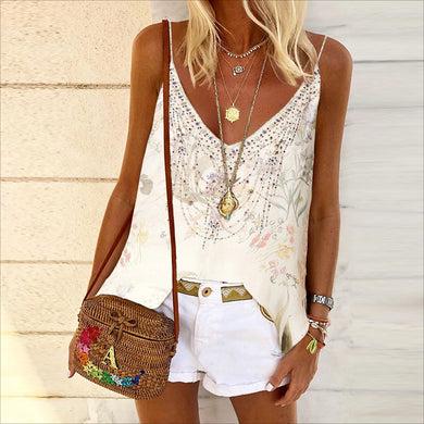 Casual hot drill printed vest