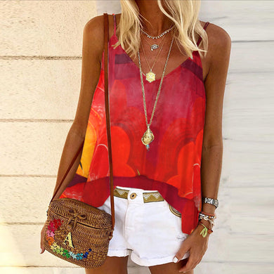Fashionable hill print gradient vest