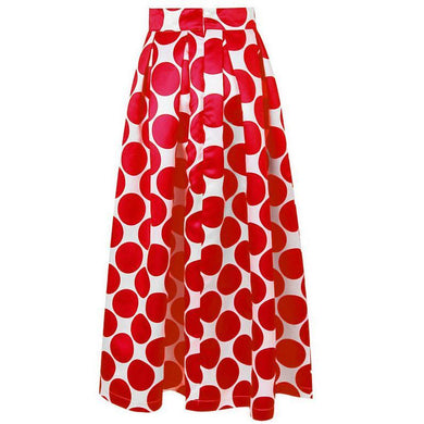 Elegant Polka Dot Big Hem Long Skirts