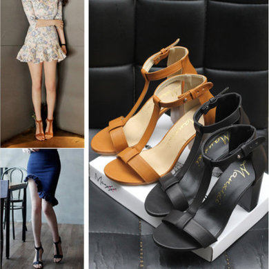 Chic High Heel PU Buckle Pumps For Women