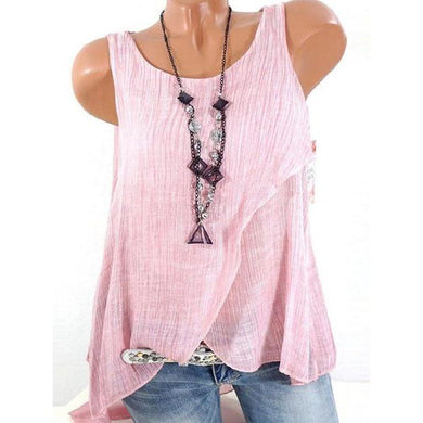Sleeveless Round Neck Plain T-Shirts