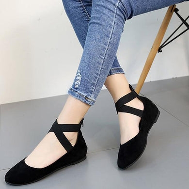 Fashion Elastic Strappy Flats