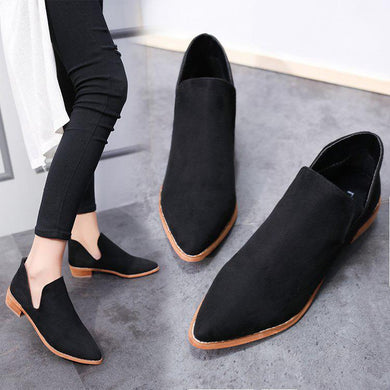 Fashion Solid Color Chunky Ankle Boots