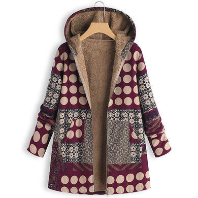 Women's Plaid Print   Hooded Jacket