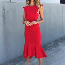Flash Sale Fashion Sexy Irregular Flounce Maxi Dress