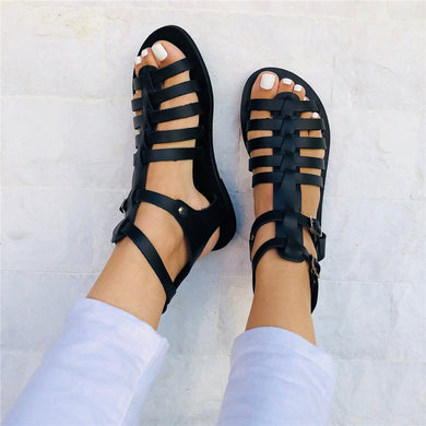 Fashion Roman   Style Versatile Flat Sandals