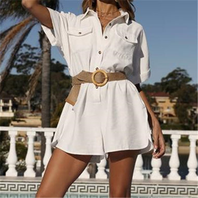 Fashion Loose Short Sleeves Jumpsuits