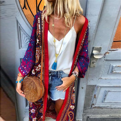 Casual Fashion Printed Long Sleeve Cardigans