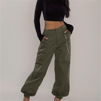 Fashionable pure color is wide leg casual pants