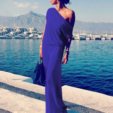 Flash Sale One Shoulder  Plain Maxi Dresses
