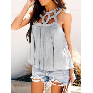 Casual Hollow-Out Sleeveless Vest