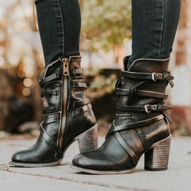 Plain Round Toe Casual Outdoor Boots