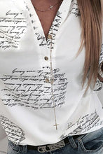 Turn Down Collar  Single Breasted  Letters Blouses