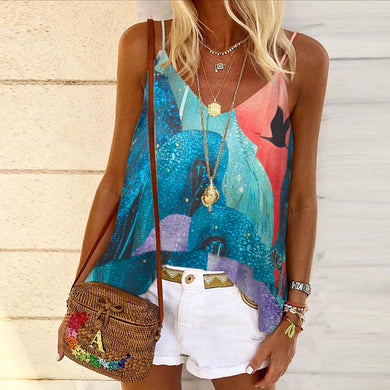 Stylish v-neck halter vest