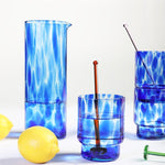 Glass / Blue - set of 4