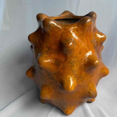 Ceramic vase, brown - large