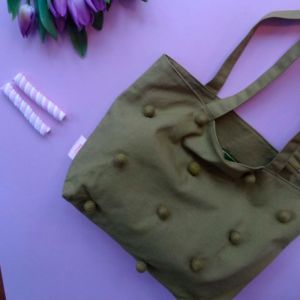 <transcy>Bag, Army green</transcy>