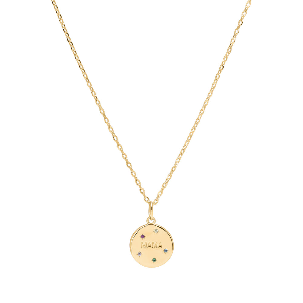 <transcy>MAMA / Necklace / Gold</transcy>