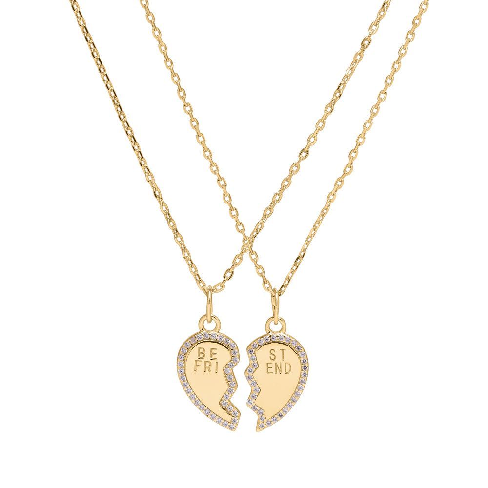 <transcy>BFF / Heart Necklace</transcy>