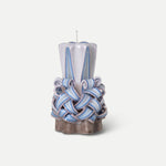 Hand-carved Candles / Dusty Purple