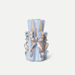 Hand-carved Candles / Light Blue