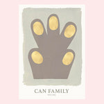 Can Family / Hand Grey / 50x70