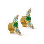 Earring / Refina - Blue & Green