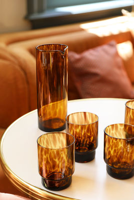 Glass / Amber - set of 4