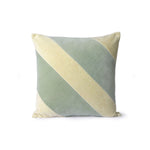 Velvet Striped Cushion / Mint Green