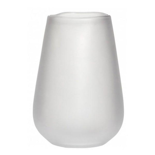<transcy>Vase / Glass - White, large</transcy>