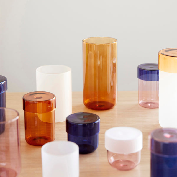 <transcy>Glass Jar / Pink / Set of 2</transcy>