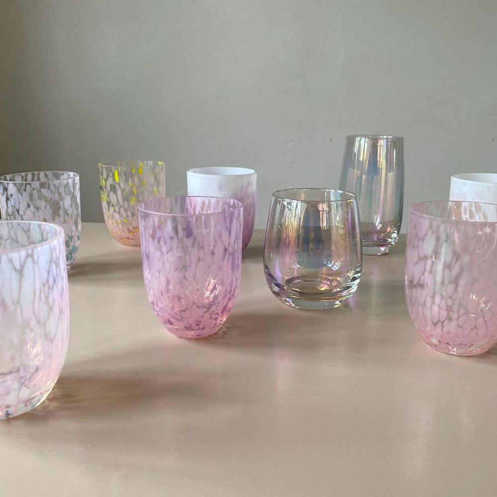 Fabrek Glass / Rosa - White