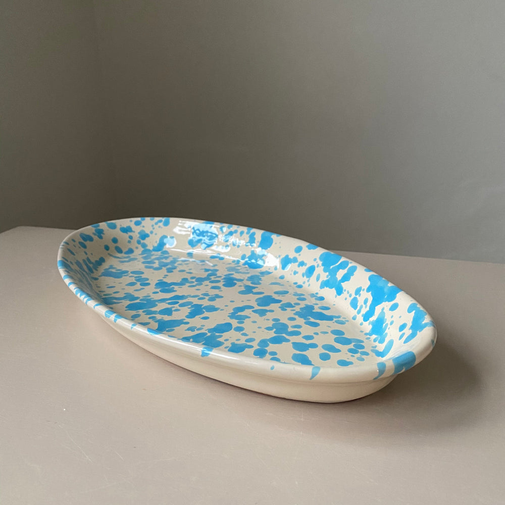 Oval Plate / Light Blue