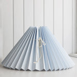 <transcy>Pleated lampshade / Light blue</transcy>