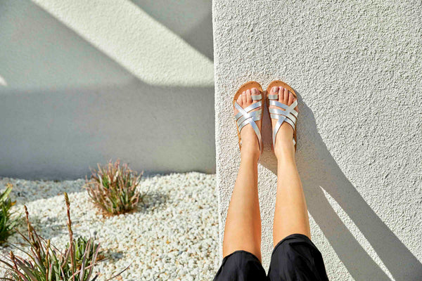 GANNETT sandal - Silver/Sand - on model shot 1