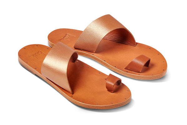 featured image FINCH sandal - Rose Gold/Tan - angle view noscript image
